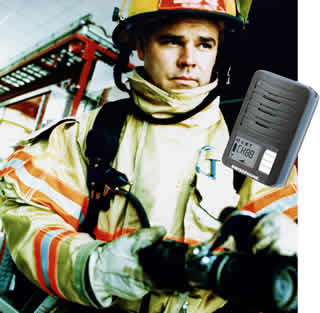 fireman with swissphone pager